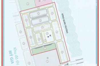 Bán đất Mỹ Gia gói 5, đường nội bộ 14m, gần sông, giá cực rẻ 18.5 tr/m2, LK56.XX. LH 0905.573.486