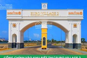 Cần bán lô biệt thự Euro Village 2 - Đảo Triệu Phú - Gía 50tr/m2