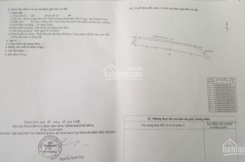 Cần bán đất mặt tiền QL 1A tổ 01 Lương Hòa - xã Vĩnh Lương - TP. Nha Trang - T. Khánh Hòa