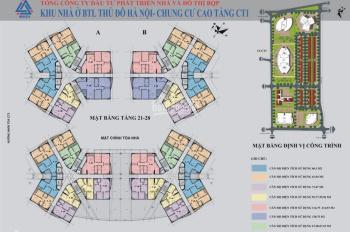 Mở bán đợt cuối chung cư CT1 Bộ tư lệnh Thủ Đô - Yên Nghĩa, Hà Đông giá HĐ chỉ từ 12.5 triệu/m2