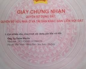 Chính chủ bán 1080m2 đất, SĐCC đường tỉnh Lộ tại Minh Phú, Sóc Sơn container qua lại