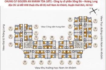 Chị Vân - 0906839966 bán CC The Golden An Khánh, T (1612: 66,8m2- 18T1) T (1015 - 69m2), giá: 920tr