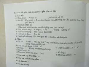 Bán biệt thự villa 1 ô 23 Hyundai Hà Đông dt 152.5m2, giá 12 tỷ
