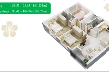 Cần tiền bán gấp căn 3PN full nội thất, DT 81.59m2, BC Đông Nam, tầng trung rất đẹp. LH 0936357828