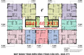Chính chủ bán cắt lỗ chung cư A10 Nam Trung Yên, giá rẻ nhất. LH 0941.46.3333, giá từ 28 tr/m2