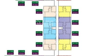 Chủ nhà gửi bán căn hộ PARCSpring 3PN, DT 91m2 tầng cao view đẹp giá 2,55 tỷ. LH 0938 658 818