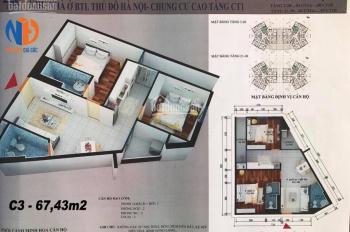 Bán chung cư CT1 Yên Nghĩa, DT 55m2, 61m2, 67m2, 73m2 và 114m2, 11,2 tr/m2. LH: 0369046896