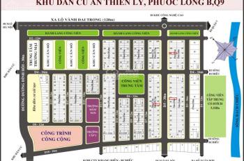 Cần bán lô đất dự án Thiên Lý hướng Tây Bắc, DT 5x19.3m, giá TL. Liên hệ 0966407177