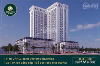 Bán căn hộ cao cấp dự án đối diện Vinhomes Riverside, giá ưu đãi - chỉ từ 2,1 tỷ/căn 86m2, CK 3%