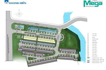 Bán nhà Mega Residence, 5x15m, view công viên, vị trí đẹp, giá 4.9 tỷ, (bao ST). LH 0949766228 Hải