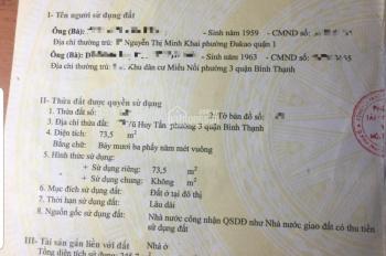 Hot! Chính chủ bán nhà mặt tiền Vũ Huy Tấn, P3, DT: 4,2mx18m, vuông vức, 1 trệt 3 lầu