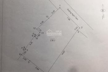 Bán nhà đất mặt phố Nghi Tàm - Tây Hồ, 138.1m2 MT 8m - 239tr/m2 - 2 lô liền kề, bên số lẻ mới hạ đê