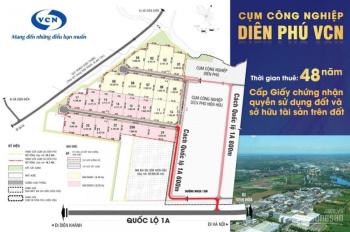 Chủ đầu tư VCN, cho thuê đất cấp GCNQSD 48 năm tại cụm công nghiệp Diên Phú. LH: 077.752.7888 Vương