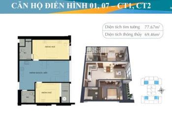 Bán gấp căn hộ chính chủ 2PN, 2 vệ sinh ở Mỹ Đình Plaza 2 số 2 Nguyễn Hoàng. Liên hệ 0934553855