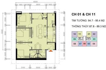 Bán căn 2611 tòa CT1 suất ngoại giao giá siêu rẻ