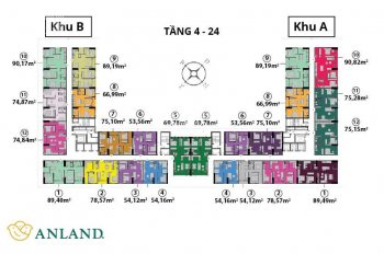 Bán cắt lỗ căn góc 89,2m2-3 phòng ngủ- 2wc tòa Anland Complex, Nam Cường, Hà Đông