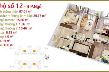 Bán căn 12, 3PN, 87.01m2 giá tốt nhất dự án chung cư Imperia Sky Garden 423 Minh Khai, HBT, HN
