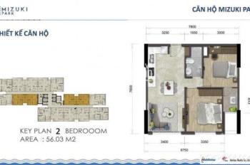 Bán căn hộ 2 phòng ngủ 56m2, giá 1,6 tỷ LH: 084.45.47.888