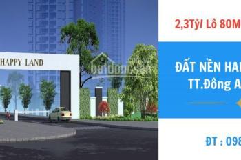 Bảng giá dự án khu nhà ở thương mại 1/5 Happy Land Đông Anh, mua giá gốc ký HĐMB trực tiếp CĐT