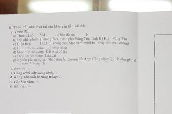 Bán 2 lô đất hẻm xe hơi, có nhà mái bằng đường Phạm Thế Hiển, P. Thắng Tam