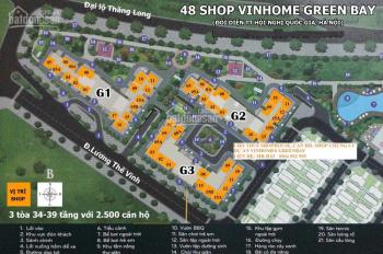 Cho thuê shop mặt bằng kinh doanh chung cư Vinhomes GreenBay, mặt đường Lương Thế Vinh tòa G1