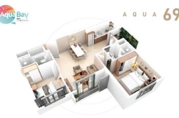 Cho thuê căn hộ 58m2 Aquabay giá rẻ 4,5 tr/th. LH: Lâm 0979.458.312
