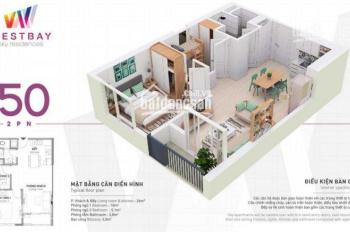 Cho thuê căn hộ 50m2 Westbay - Ecopark, full đồ, giá rẻ 5,5 tr/th. LH Lâm 0979.458.312