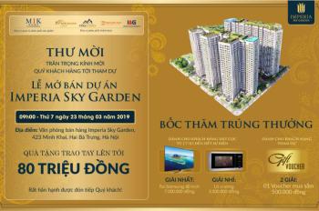Chỉ từ 3 – 3,8 tỷ đã có ngay căn 3 ngủ DT từ 91 – 110 m2 dự án Imperia Sky Garden