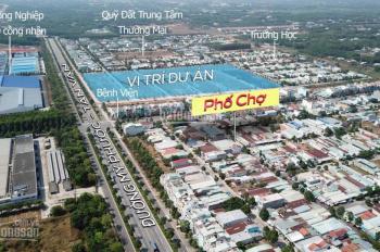 Bán đất MT phố chợ Thủ Dầu Một, đường Mỹ Phước - Tân Vạn, hỗ trợ ngân hàng tới 70% đã có sổ hồng