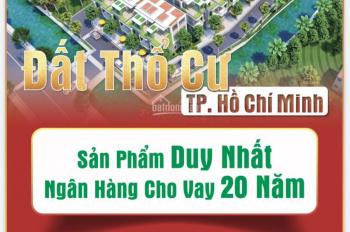 Đất nền Hóc Môn, giá 13.5 tr/m2, pháp lý hoàn chỉnh ngân hàng cho vay 70%, SHR, xây tự do, LH CĐT