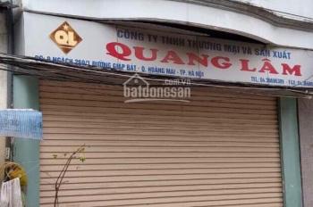 Bán nhà mặt ngõ ô tô. Diện tích 55 m2 ngách 259/1 Giáp Bát, Hoàng Mai, Hà Nội, 5,6 tỷ