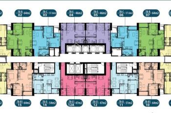 Chính chủ bán căn hộ 47,5m2 chung cư Intracom Đông Anh tầng 2012, giá 20,5 triệu/m2, LH: 0904516638
