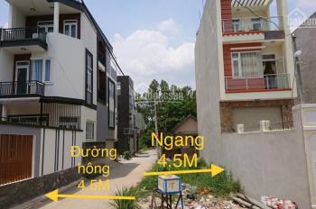 Lô góc 2 mặt tiền 4.5x24m (108m2) sổ hồng riêng, đường Số 9 ngay khu đô thị Vạn Phúc. Giá 4,8 tỷ