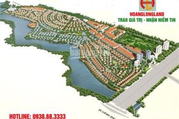Bán đất biệt thự, DT 350m2, lô góc 2 mặt tiền, view hồ, giá 10.8tr/m2, LH 0938.68.3333