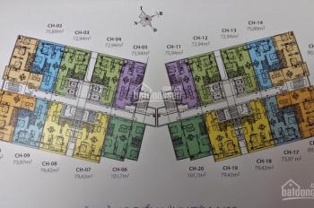Chính chủ bán gấp CC 87 Lĩnh Nam, căn 14, DT 75.9m2, 2PN, giá 23 tr/m2. LH 0966331603