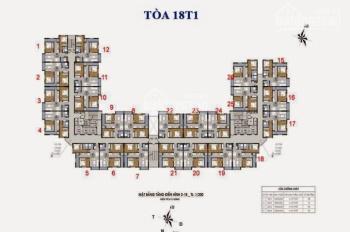 Chính chủ bán chung cư The Golden An Khánh căn 1020 tòa 18T1 DT 66m2, giá 950tr/căn. LH 0969749993