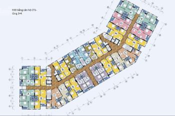 Bán căn hộ 43,07 m2 CT1 Thạch Bàn, Long Biên Hà Nội, chi tiết liên hệ 0967707876