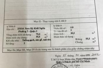 Cần bán nhà hẻm Nam Kỳ Khởi Nghĩa, Phường 7, Quận 3 LH: 0941715715 Mr Trung