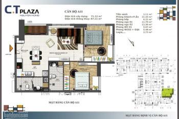 Chính chủ cần ban căn góc 72m2/2PN giá 2,65 tỷ (VAT). LH 0932009006