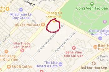 Bán đất mặt tiền góc ngã tư trung tâm quận 1, P. Bến Thành, đối diện Phong Vũ vi tính