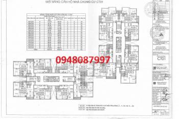 Bán căn hộ chung cư Viện 103 78m2, 2PN, 2WC, giá 1,45 tỷ