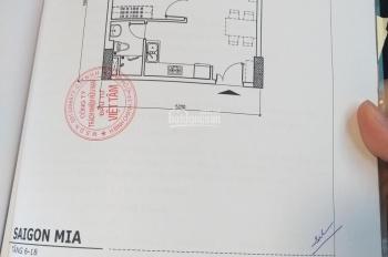 Bán căn Mia 1 phòng ngủ C15 tầng 14, đã đóng 93%, chênh lệch 220 triệu, giá thật, LH: 0932695532