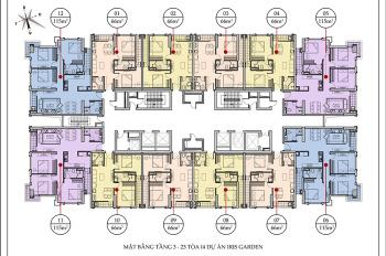 Dung - 096821169 cần bán căn hộ tại Iris Garden, 15-02 tòa I3 1 tỷ 500tr, 59.5m2 bao sang tên