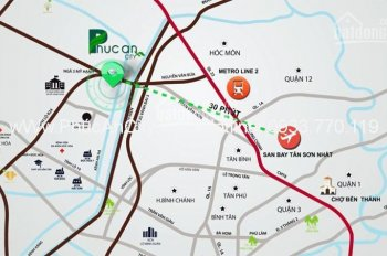 Dự án Phúc An nằm trên đường Nguyễn Văn Bứa