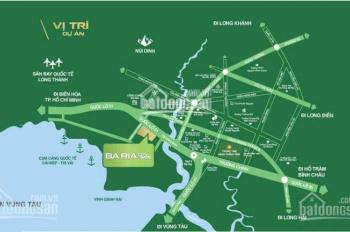 Bán đất nền mặt tiền QL51 ngay trung tâm Bà Rịa dự án Baria City Gate, LH 0932166890