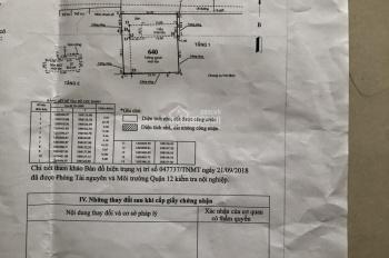 Bán nhà cấp 4 nát MT Thới An 15 giáp với Lê Văn Khương DT 24x27m hướng Bắc giá 26.5tỷ LH 0919147835