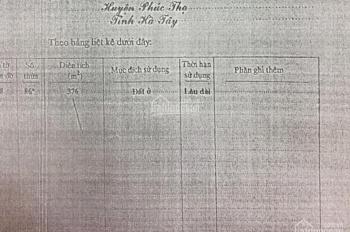 Bán nhà đất DT 376m2, giá 1.9 tỷ tại cụm 7, Hát Môn, Phúc Thọ, Hà Nội, LH 0981 782 567 Ms Dung