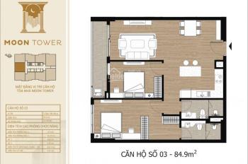 Bán căn hộ chung cư Tây Hồ Residence, Tây Hồ, Hà Nội, diện tích 84,9m2, full nội thất. Giá 3,1 Tỷ