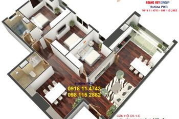 Bán căn 07 tòa C Golden Land - 131m2 - Chỉ từ 30% nhận nhà CK 18% từ 3.6 tỷ. CĐT: 098.115.2882