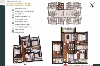 Bán căn 10 chung cư Gold Tower 114m2, 3PN tầng đẹp. 098.115.2882 Mr Dũng